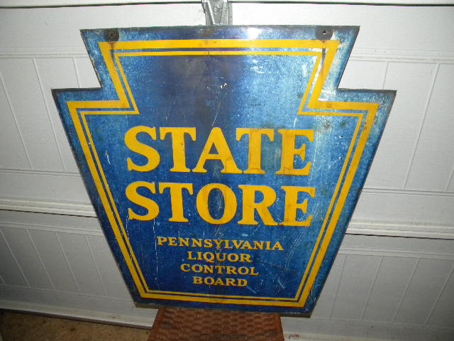 Pa State Store Hours >> Photo Pennsylvania State Store Diecut Abc Liquor Sign Old