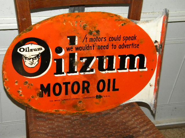 Buying A Gas Station >> Photo :: $OLD Original Oilzum Tin Flange Sign