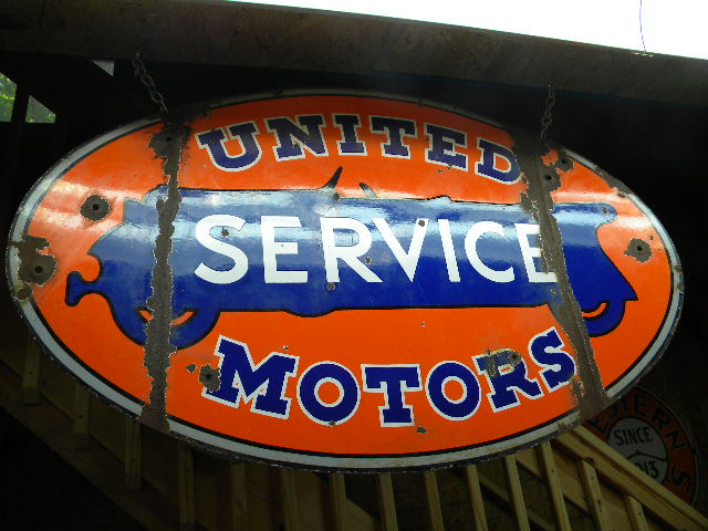 $OLD United Motors Service DSP Porcelain Sign Rare Version