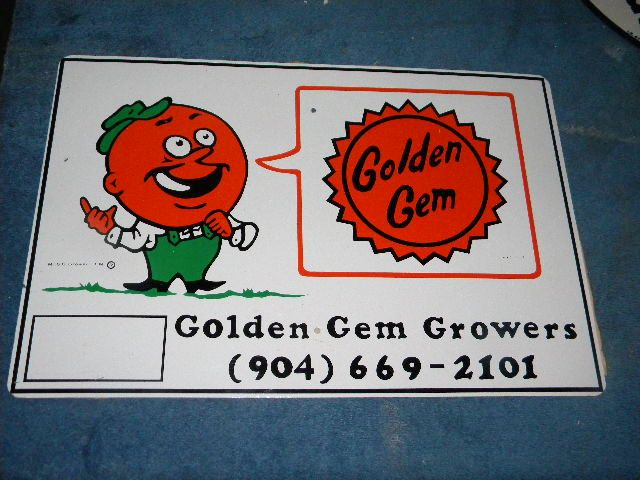 $OLD Golden Gen Growers Sign with Neat Graphics