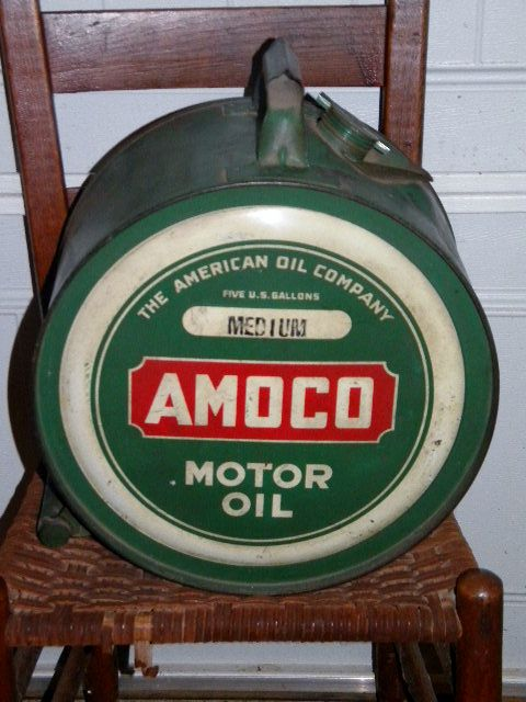$OLD Amoco Easy Pour rocker oil Can