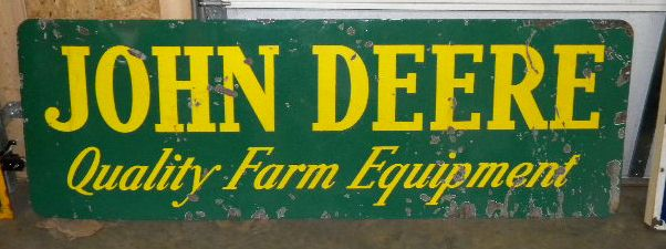 $OLD John Deere Porcelain Quality Farm Equipment Tractor Sign