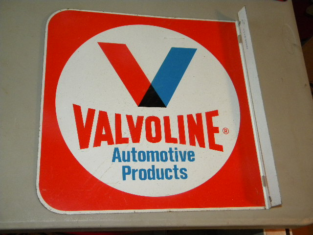 $OLD Valvoline Tin Flange Sign