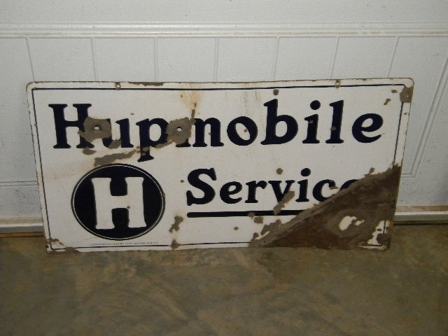$OLD Hupmobile DSP Porcelain Sign