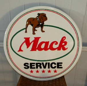 $OLD Mack Truck Embossed Tin Sign