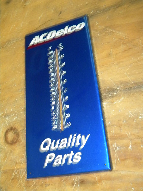 $OLD AC Declo GM Tin Thermometer Sign