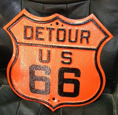 $OLD US Route 66 Detour Shield Sign 1927