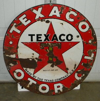 Gas Station For Sale Near Me >> Photo :: $OLD Texaco Motor Oil SSP 42 Inch Porcelain Sign