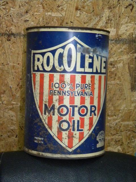 Photo old rocolene 5 quart motor oil can for 5 quart motor oil