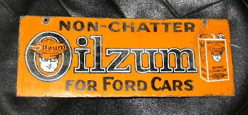 $OLD Rare Oilzum for Fords DSP Porcelain Sign