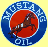 WANTED: Mustang Oils 6 Ft Gas Station SIgn