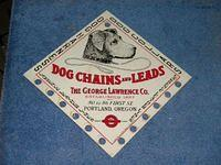 $OLD Dog Chains Leads Tin Sign