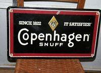 $OLD Copenhagen Tobacco Sign