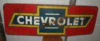 $old Chevrolet Tin Sign