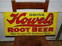 $OLD Howell's Root Beer Embossed Tin Sign