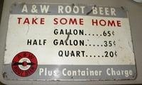 $OLD Early A&W RootBeer Tin Sign