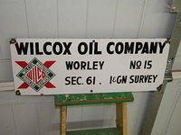 $OLD Wilcox SSP Porcelain Lease Sign Worley