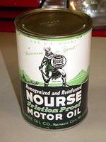 $OLD Nourse Motor Oil Quart Can Empty w/ Viking