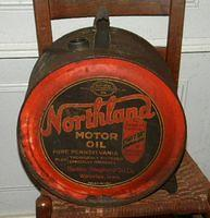 $OLD Northland Motor Oils Easy Pour Rocker Can Waterloo, IA