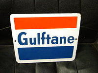 $OLD Gulftane Porcelain Gas Pump Sign