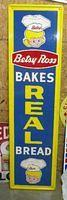 $OLD Betsy Ross Tin Bread Sign w/ graphics