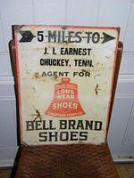$OLD Long Wear Shoes Tennesse Tin Country Store Sign
