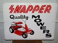$OLD Old Snapper Lawnmower Embossed Tin Sign