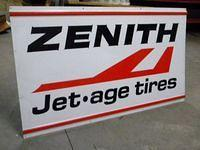 $OLD Zenith Jet Age Tires Tin Sign