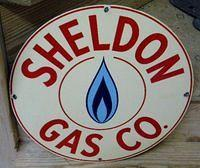 $OLD Sheldon Gas Porcelain Sign
