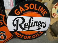 $OLD Refiners DSP 36 Inch Porcelain Sign
