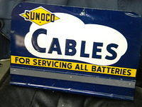 Sunoco Battery Tin rack sign $OLD