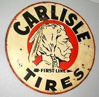 SOLD: Carlisle Tires Sign w/ Indian Graphics