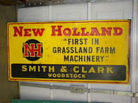 $OLD New Holland Emb Tin Sign