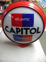 $OLD Atlantic Capital Gasoline 16.5 inches Lenses in HP Metal Body (repainted)