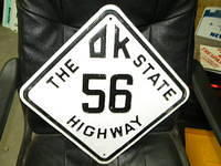 $OLD Oklahoma State Route 56 Fully Embossed Sign
