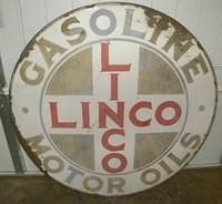 $OLD Linco Gasoline Motor Oils SSP Porcelain 42 Inch Sign