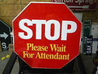 $OLD STOP See Attendant Emb Al. Sign