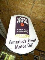 $OLD Union 76 Royal Triton Porcelain Sign DSP