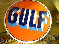 $OLD Gulf 42 Inch DSP Gasoline Sign