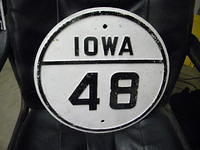 $OLD Iowa State Route Marker