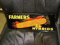 $OLD Farmers Hybrids DST Spinner Sign w/ Plane Graphics