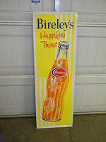 $OLD Bireley's Orange NrNos Emb Tin Sign w/ Bottle