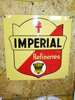$OLD Imperial Refineries PPP Porcelain Pump Plate Sign