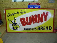 $OLD Bunny Bread 8x4 ft Tin Sign