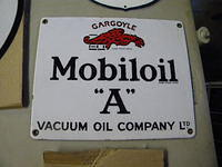 $OLD Mobil Oil A Porcelain Sign