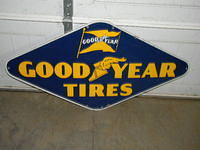 $OLD Good Year Tires SSP Porcelain Sign