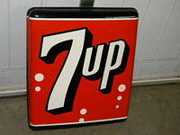 $OLD Original 7 UP Bubble tin Sign
