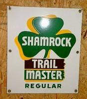 $OLD Shamrock Trail Master Regulard PPP Porcelain Pump Sign