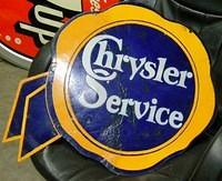$OLD Chrysler Service DSP Porcelain Ribbon Sign