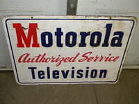 $OLD Motorola Radio Service DST Tin Sign
